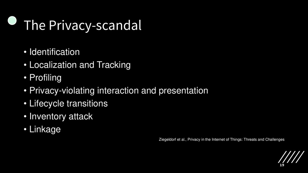 The Privacy-scandal • Identification • Localiza...