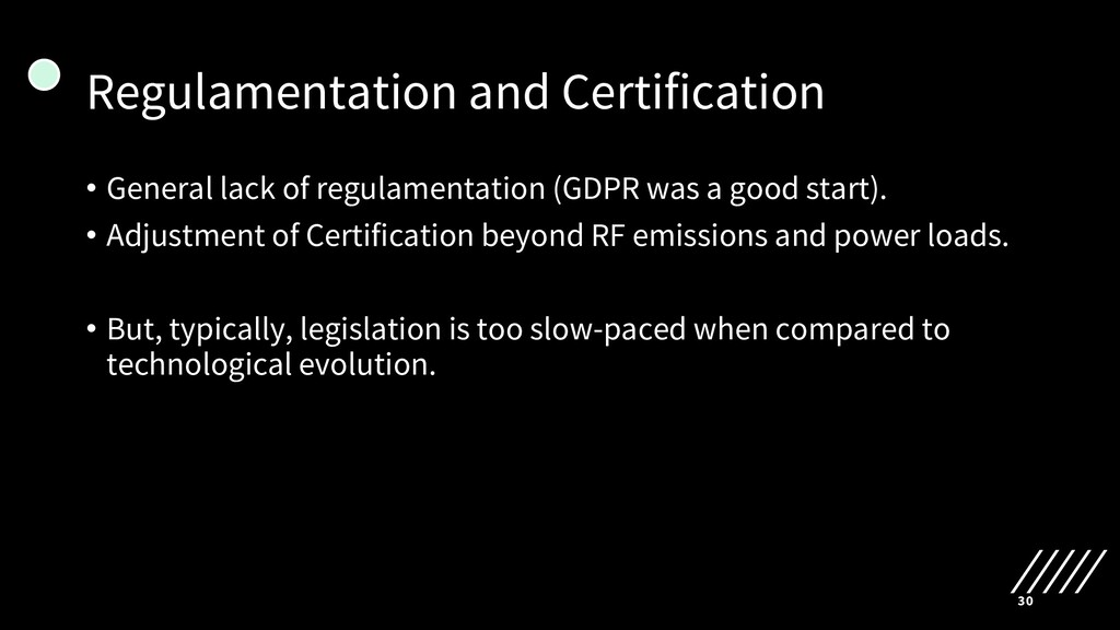 Regulamentation and Certification • General lac...
