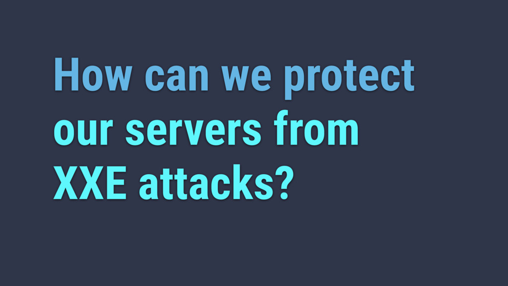 How can we protect