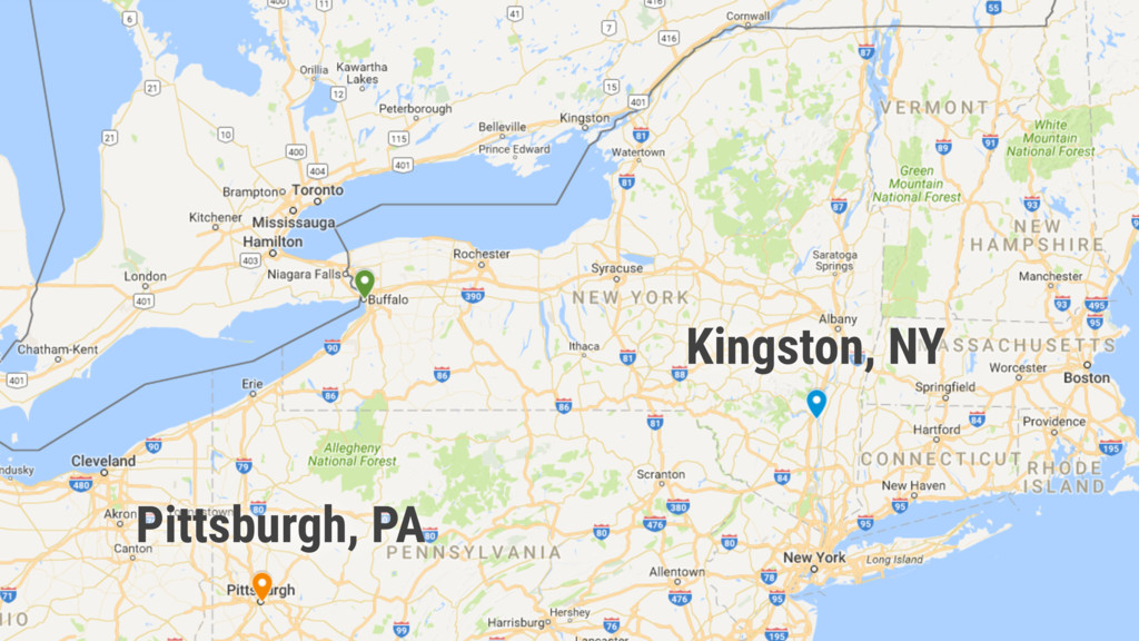 Kingston, NY Pittsburgh, PA