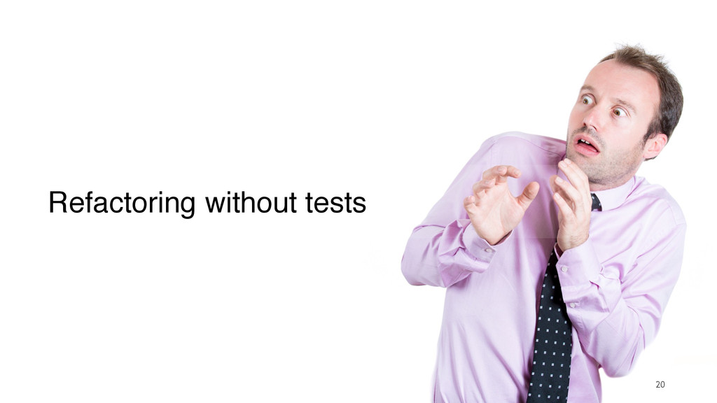 20 Refactoring without tests