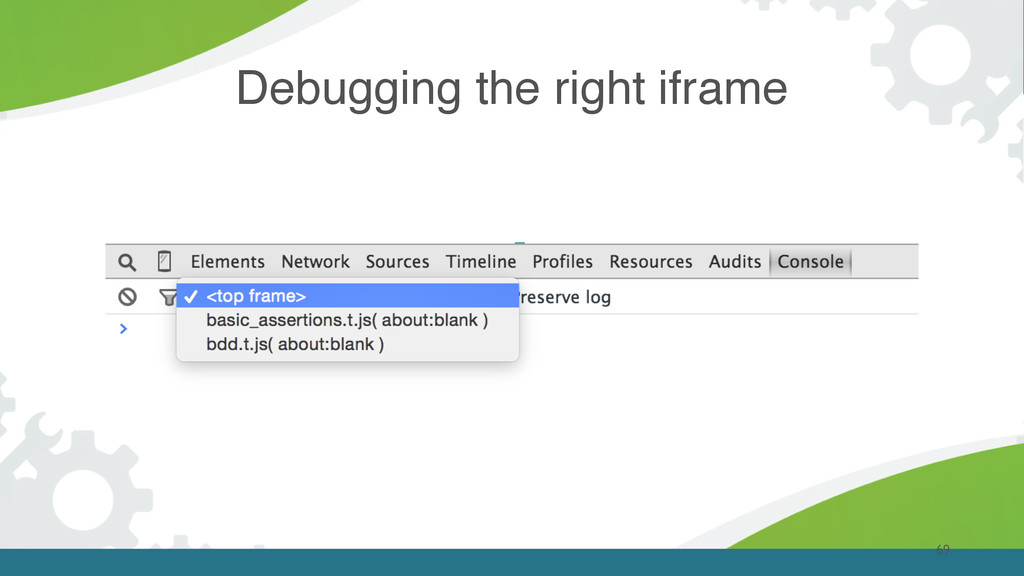 69 Debugging the right iframe