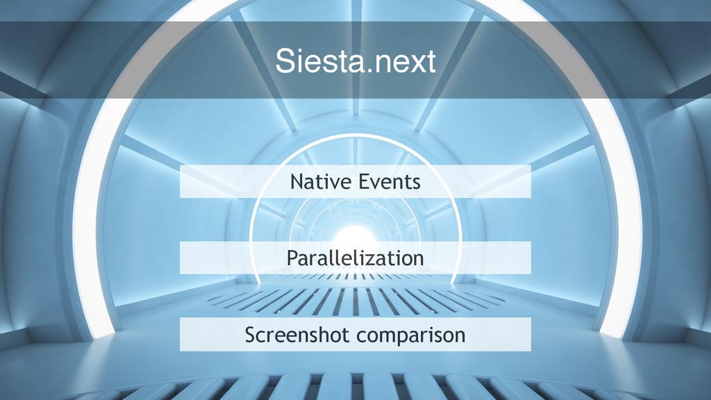 70 Native Events Parallelization Screenshot com...
