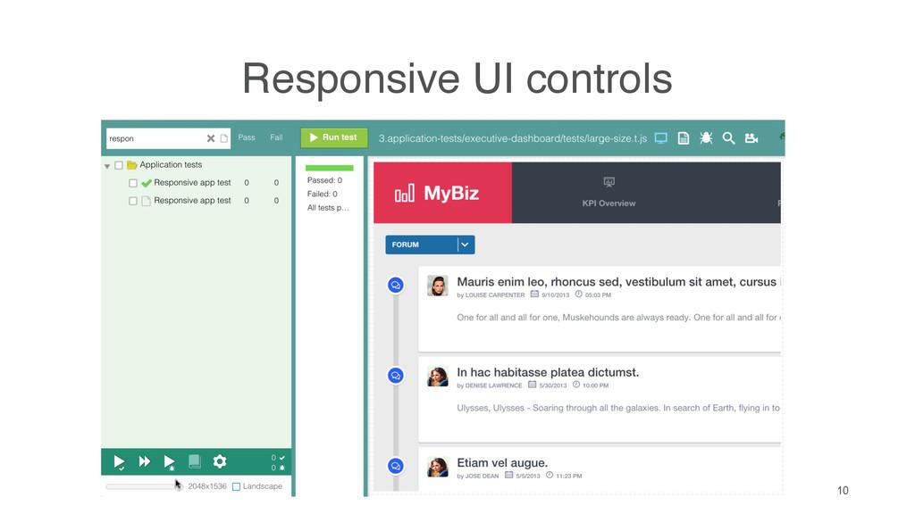 10 Responsive UI controls