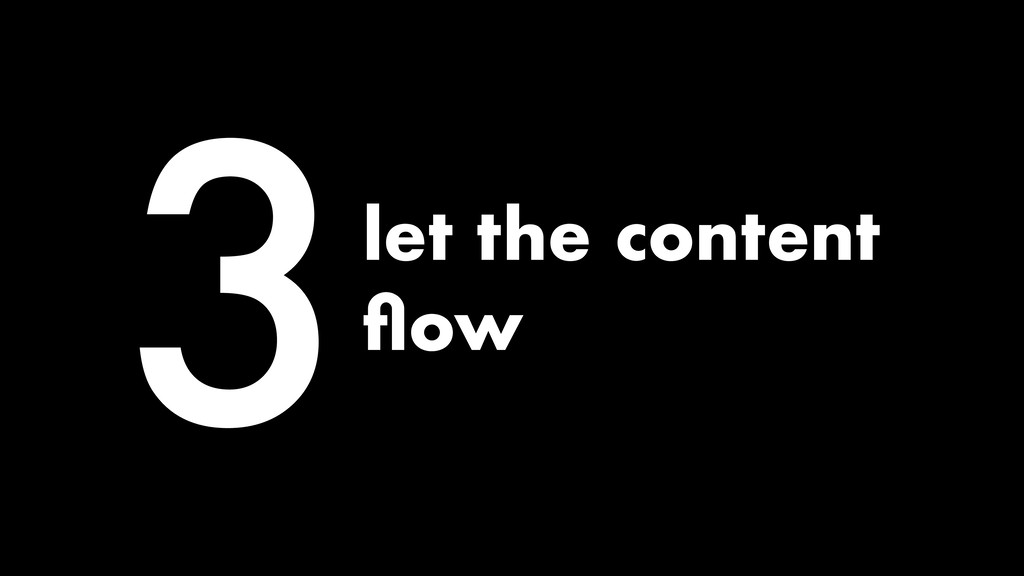 3let the content flow