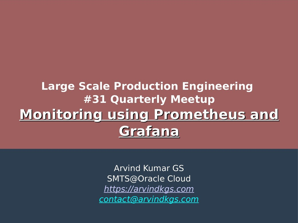 Large Scale Production Engineering #31 Quarterl...