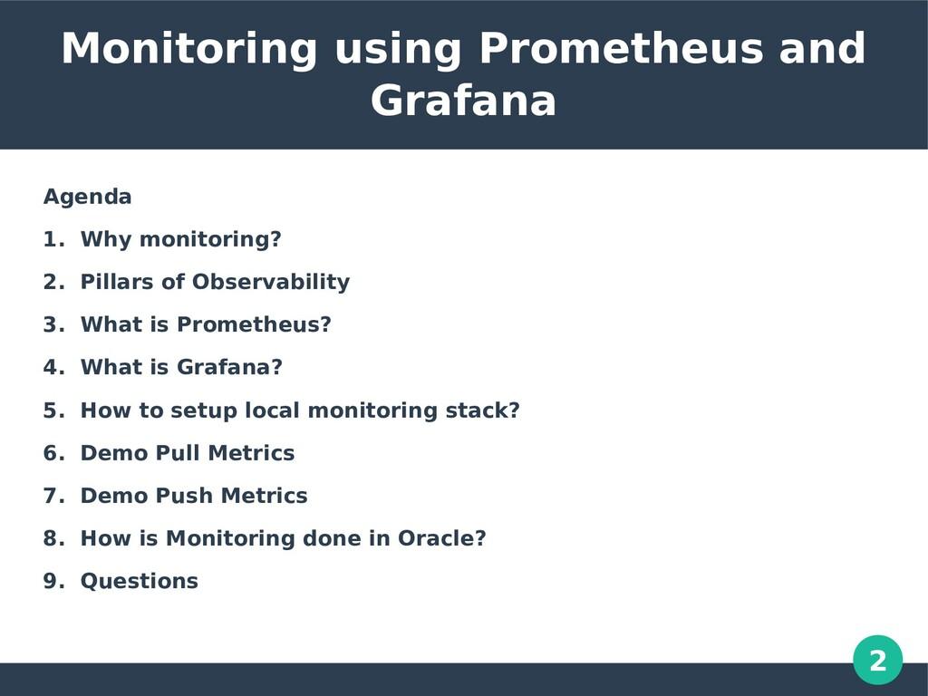 2 Monitoring using Prometheus and Grafana Agend...