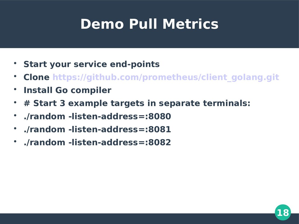18 Demo Pull Metrics  Start your service end-p...