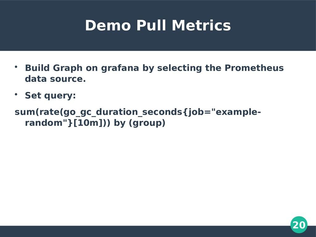 20 Demo Pull Metrics  Build Graph on grafana b...