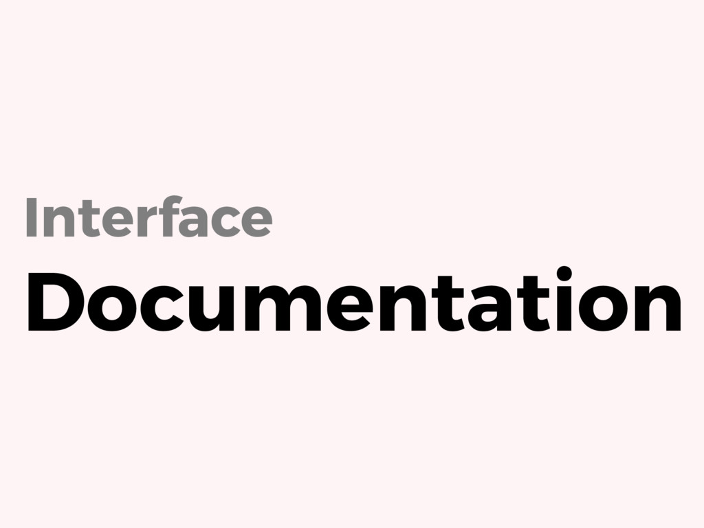 Interface Documentation