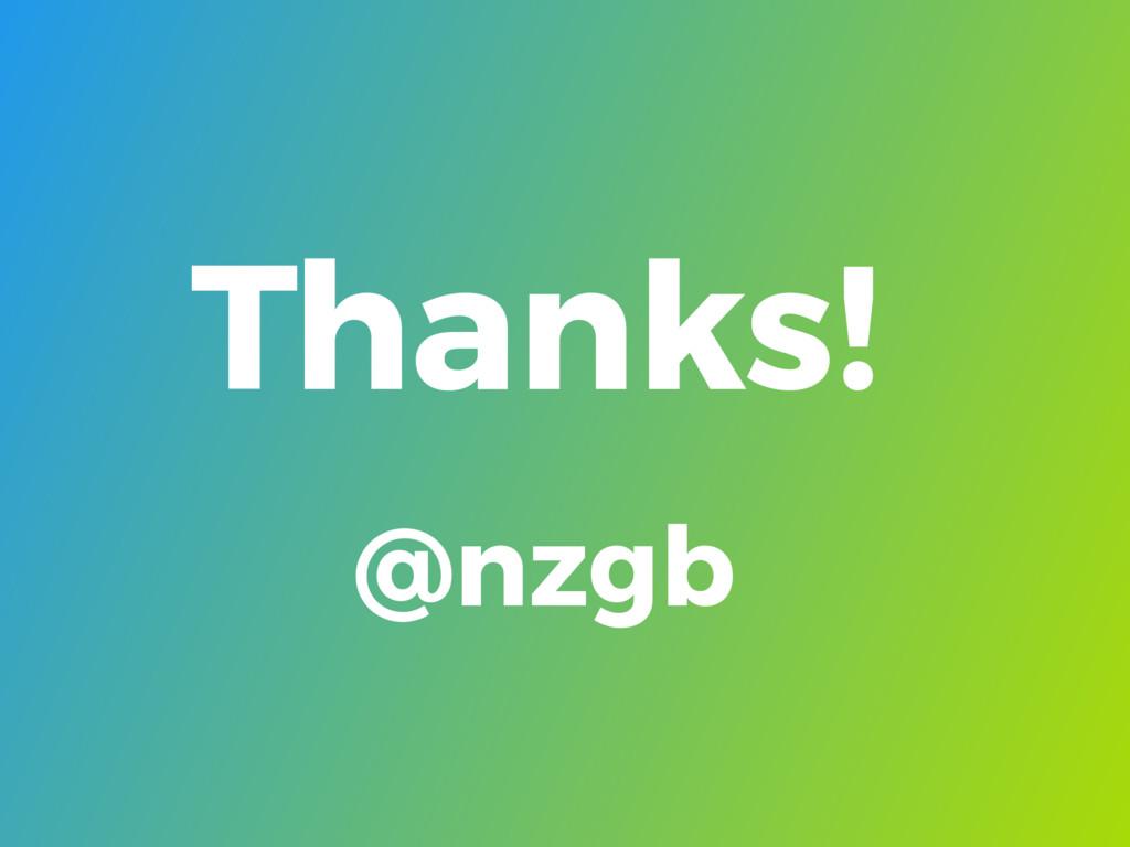 Thanks! @nzgb