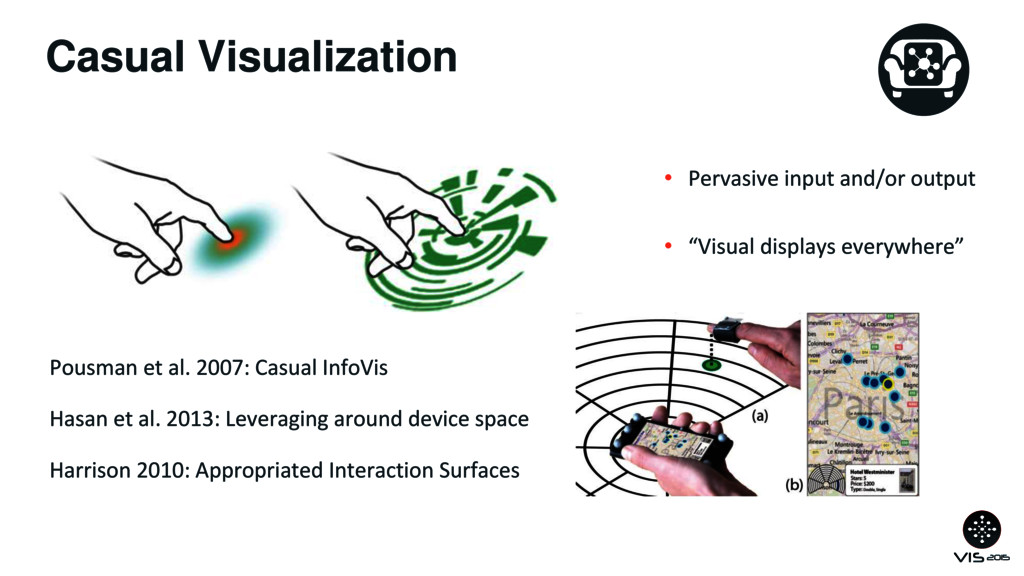 Casual Visualization • Pervasive input and/or o...