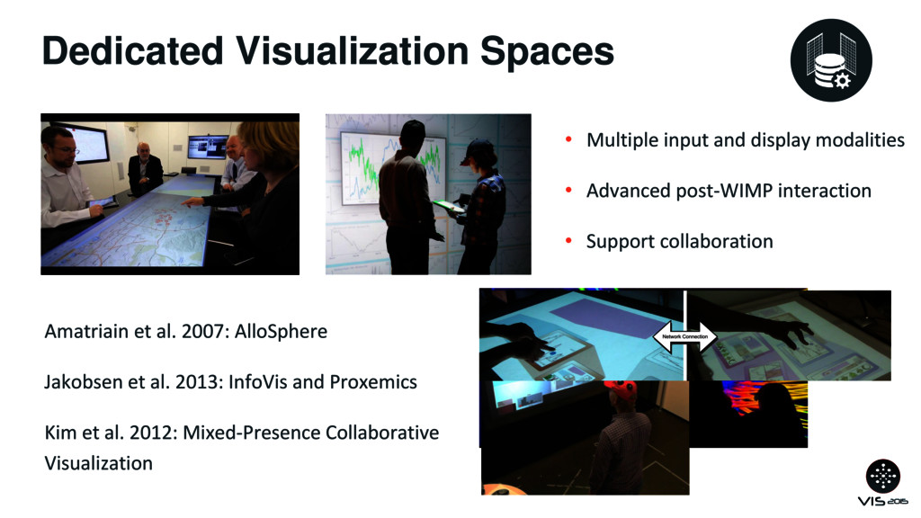 Dedicated Visualization Spaces • Multiple input...