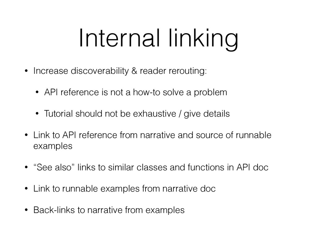 Internal linking • Increase discoverability & r...