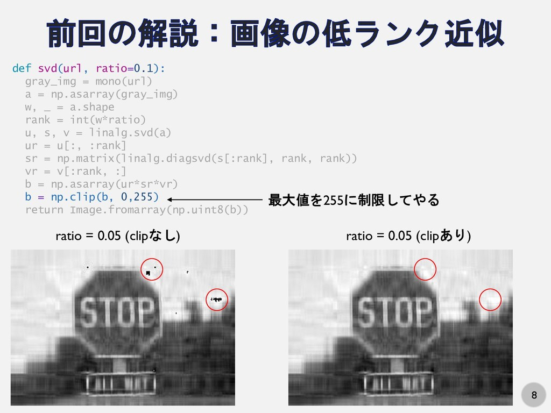 8 def svd(url, ratio=0.1): gray_img = mono(url)...