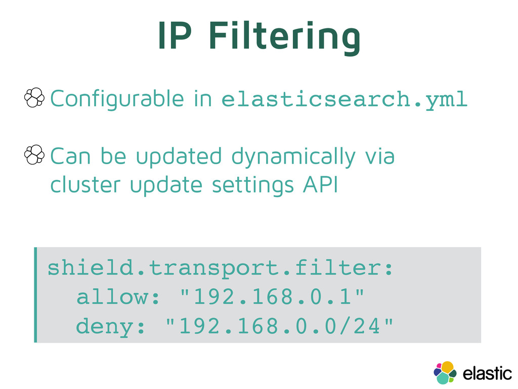 Configurable in elasticsearch.yml Can be update...
