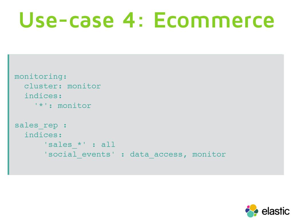 Use-case 4: Ecommerce monitoring: cluster: moni...