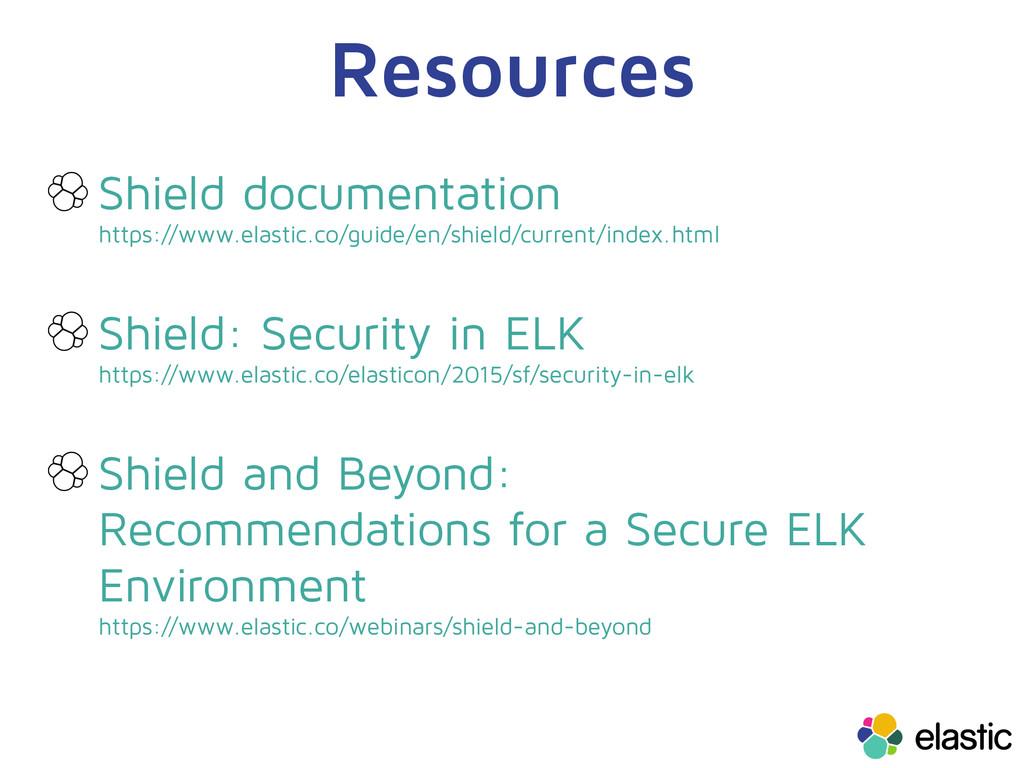 Resources Shield documentation https://www.elas...