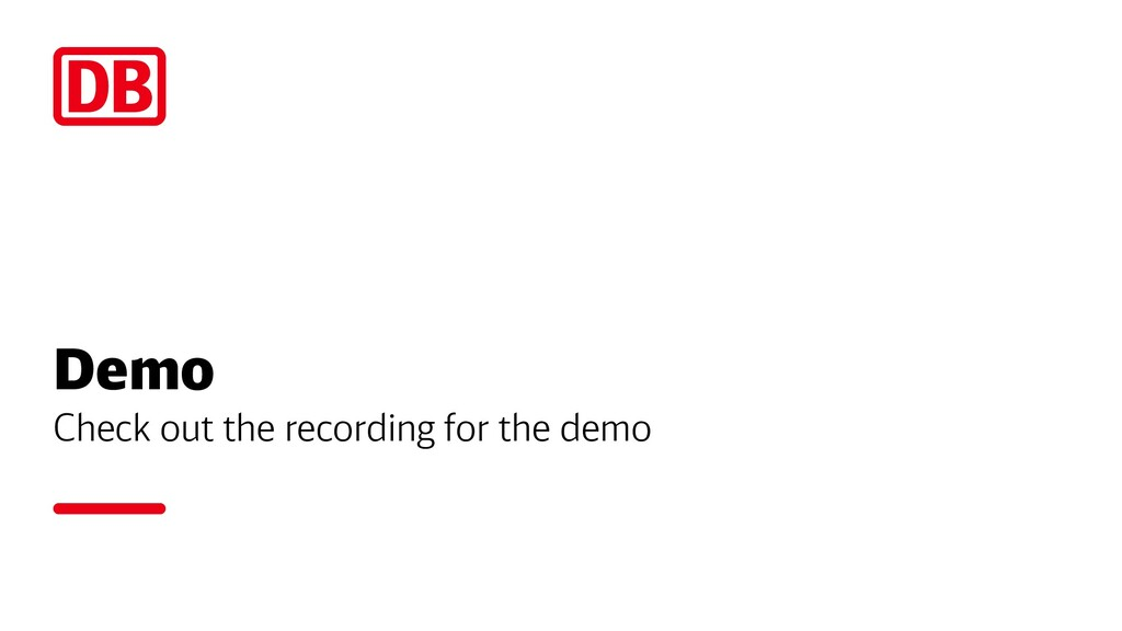 Demo Check out the recording for the demo