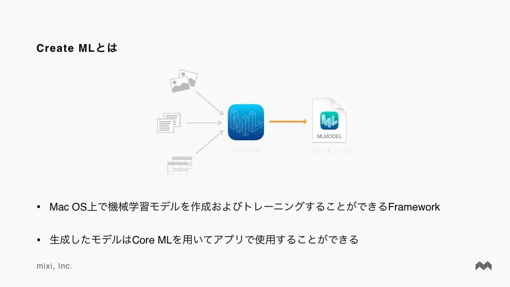 mixi, Inc. Create MLͱ • Mac OS্ͰػցֶशϞσϧΛ࡞͓Αͼτ...