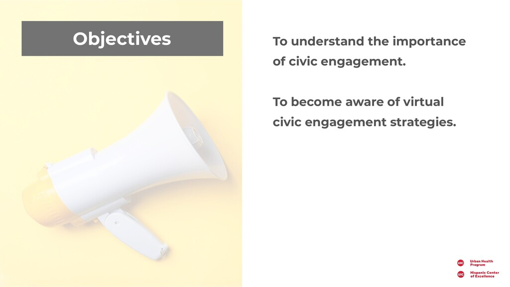 Objectives To understand the importance of civi...