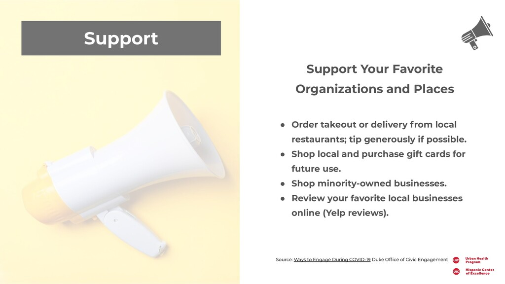 Support Support Your Favorite Organizations and...