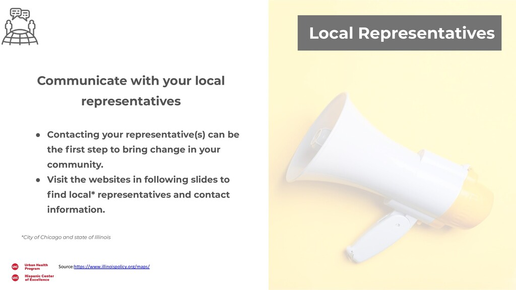 Local Representatives Communicate with your loc...