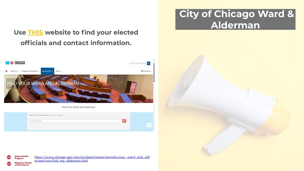 City of Chicago Ward & Alderman Use THIS websit...