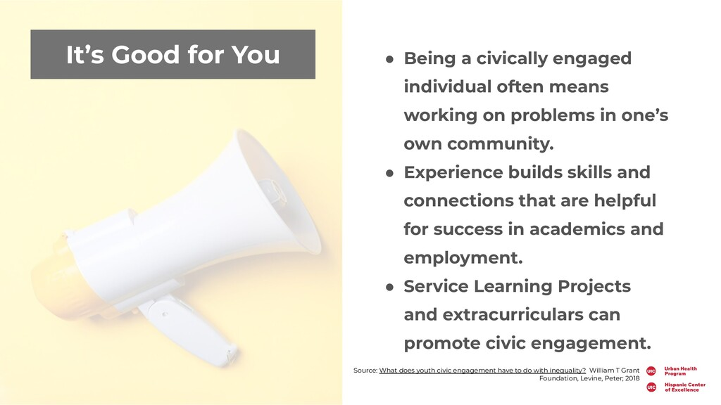 It's Good for You ● Being a civically engaged i...