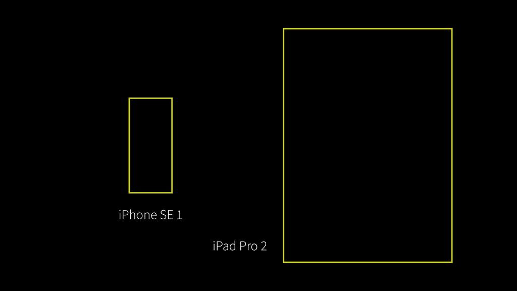 iPhone SE 1 iPad Pro 2