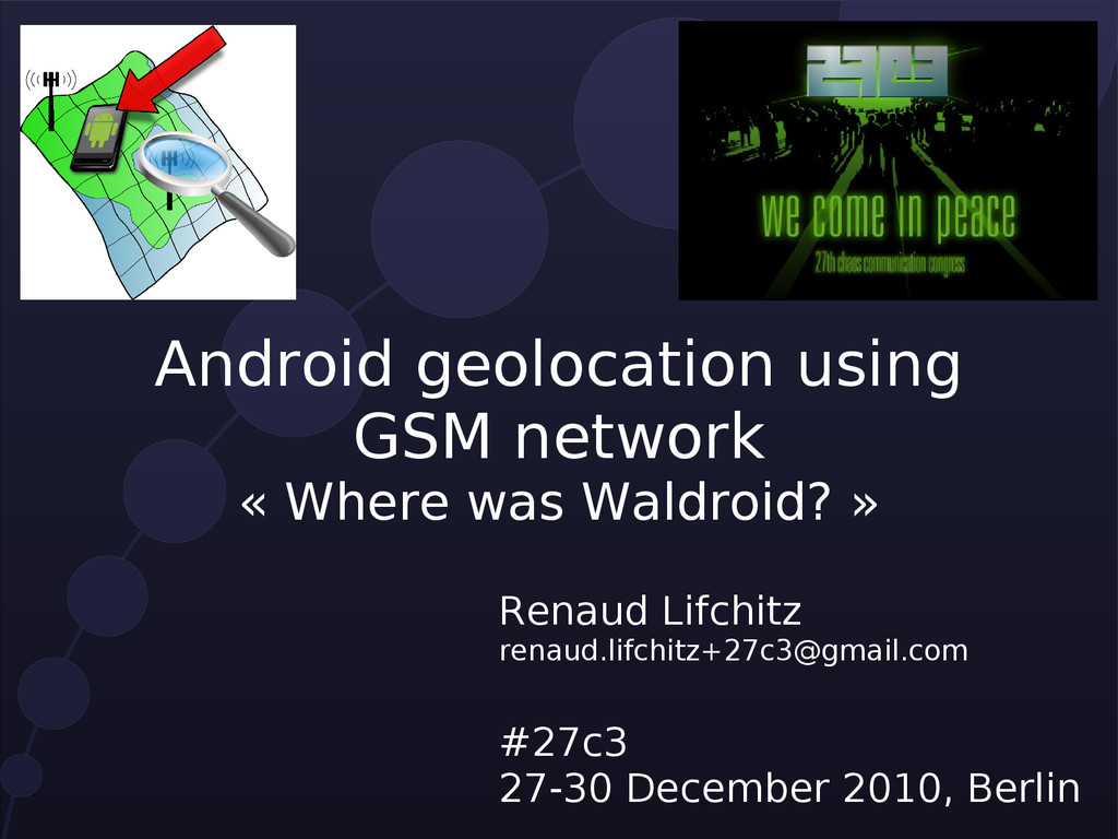 Android geolocation using GSM network « Where w...