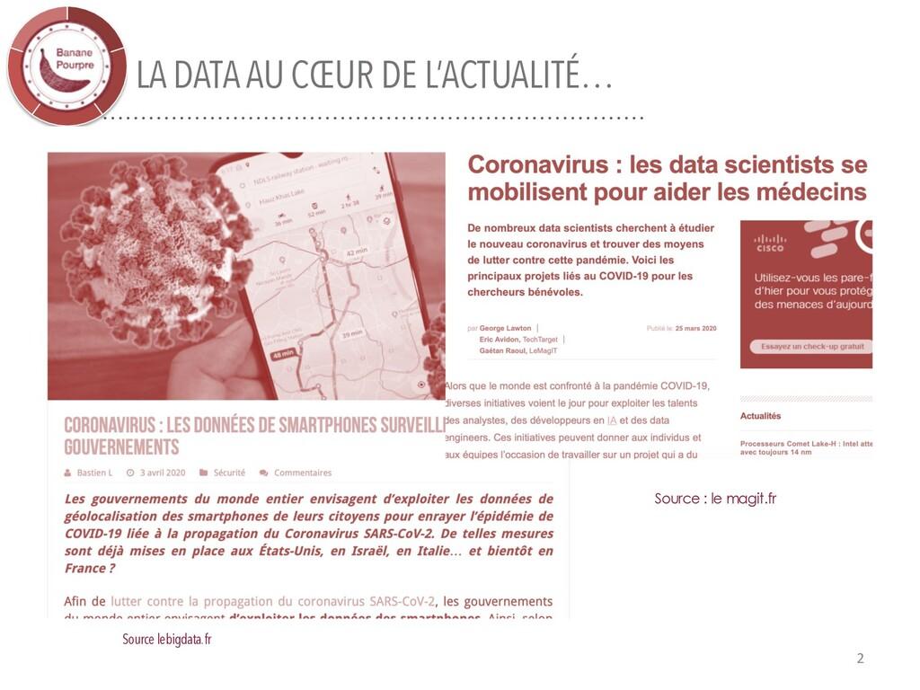 LA DATA AU CŒUR DE L'ACTUALITÉ… 2 Source lebigd...