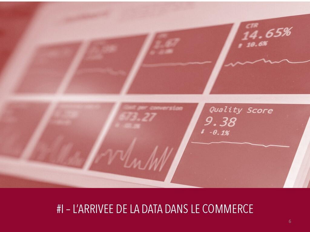 #I – L'ARRIVEE DE LA DATA DANS LE COMMERCE 6