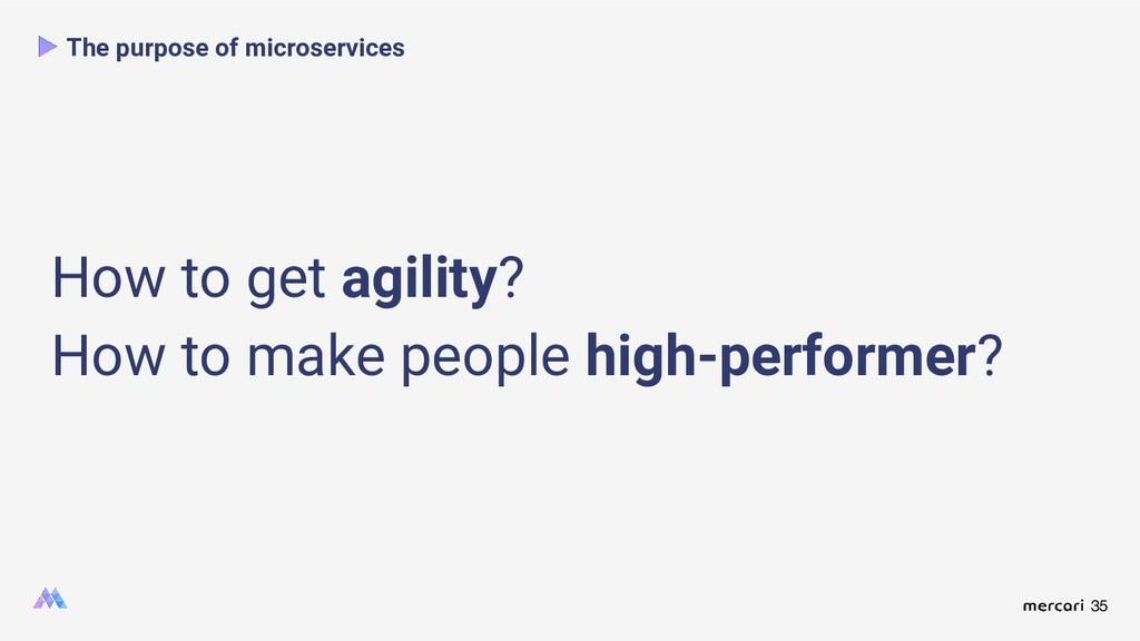 35 The purpose of microservices How to get agil...
