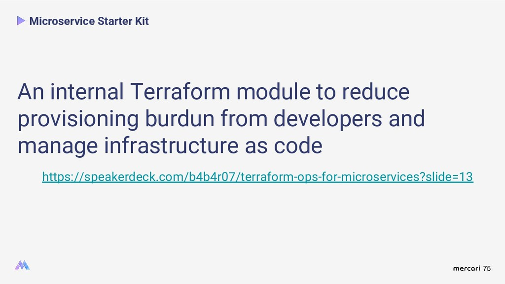 75 Microservice Starter Kit An internal Terrafo...