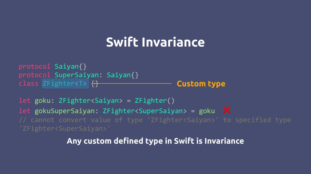 Swift Invariance protocol Saiyan{} protocol Sup...
