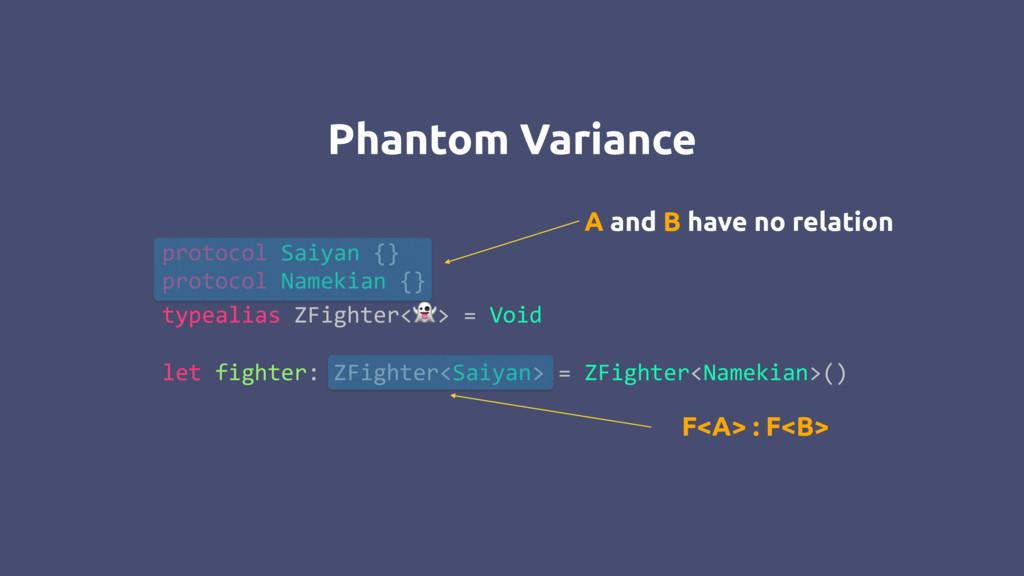 Phantom Variance protocol Saiyan {} protocol Na...
