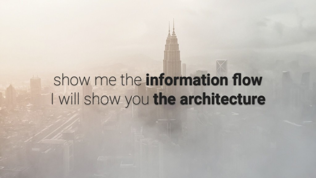 information flow the architecture