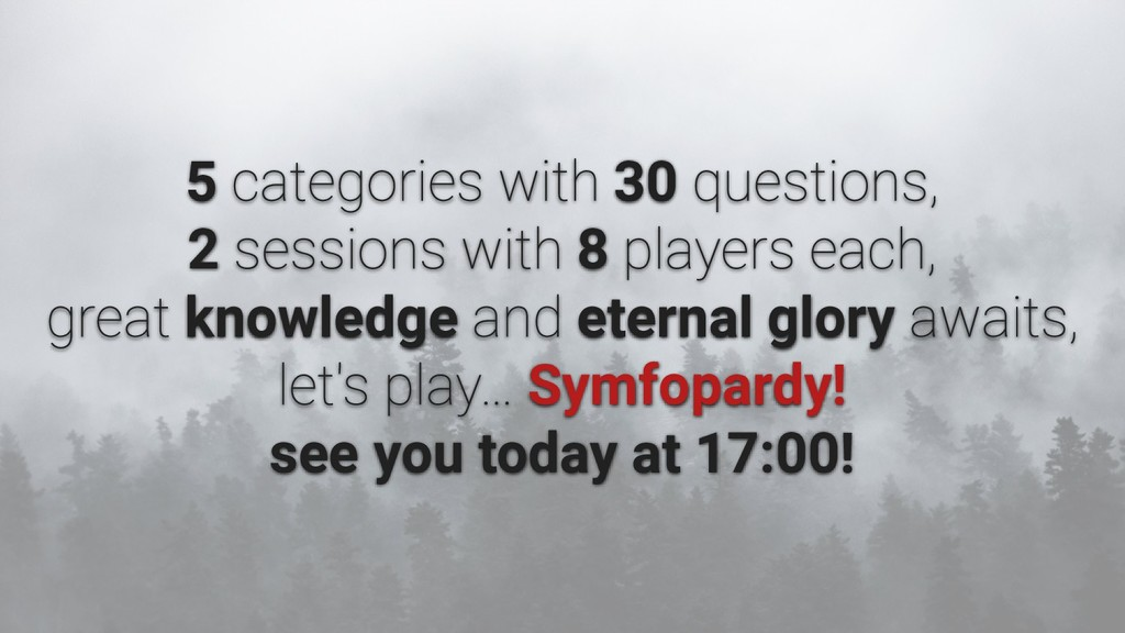 5 30 2 8 knowledge eternal glory Symfopardy! se...