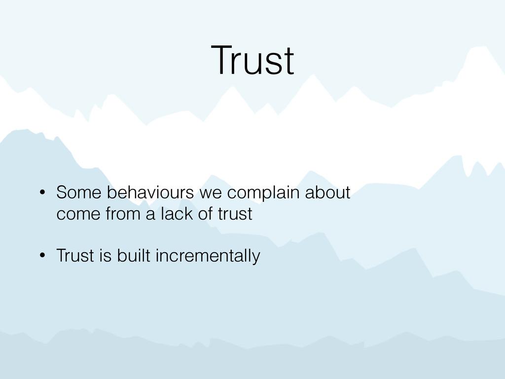 Trust • Some behaviours we complain about  com...