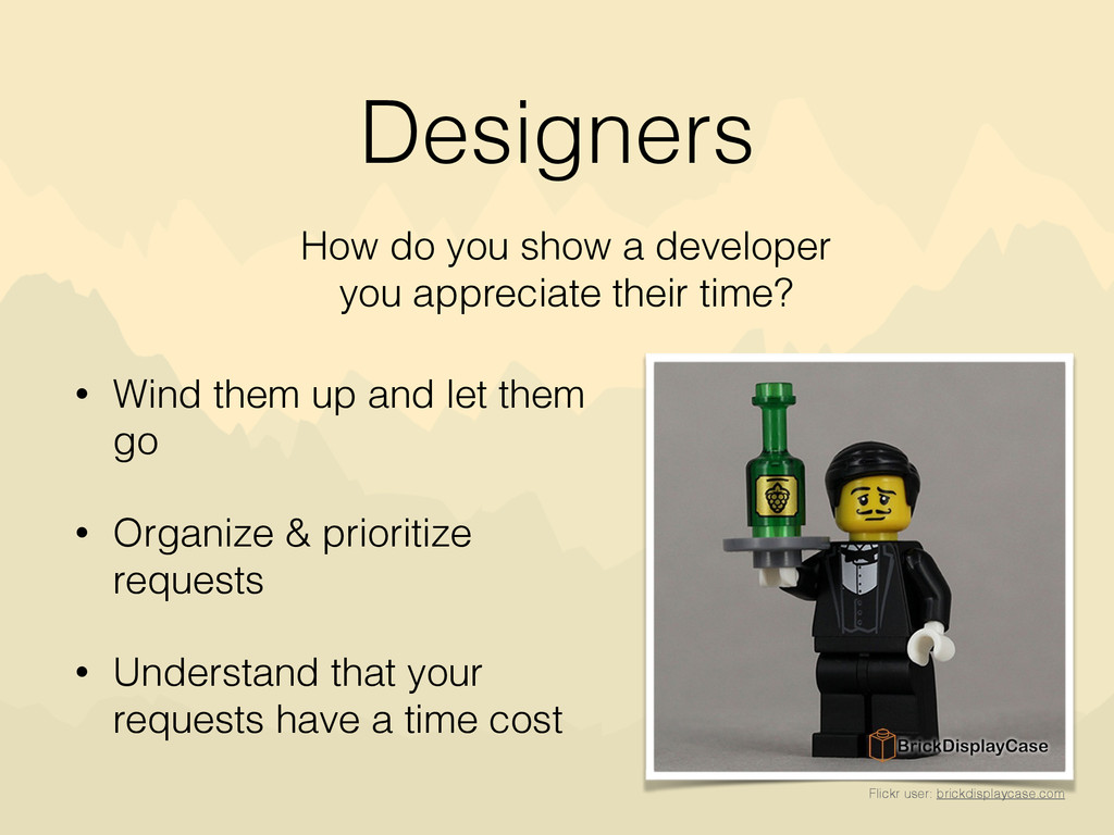 Designers • Wind them up and let them go • Orga...