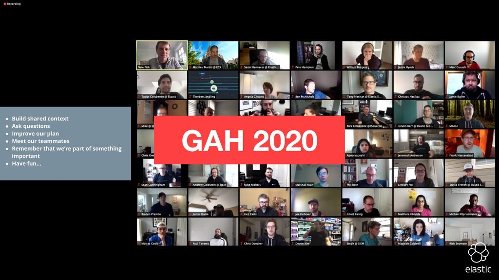 GAH 2020