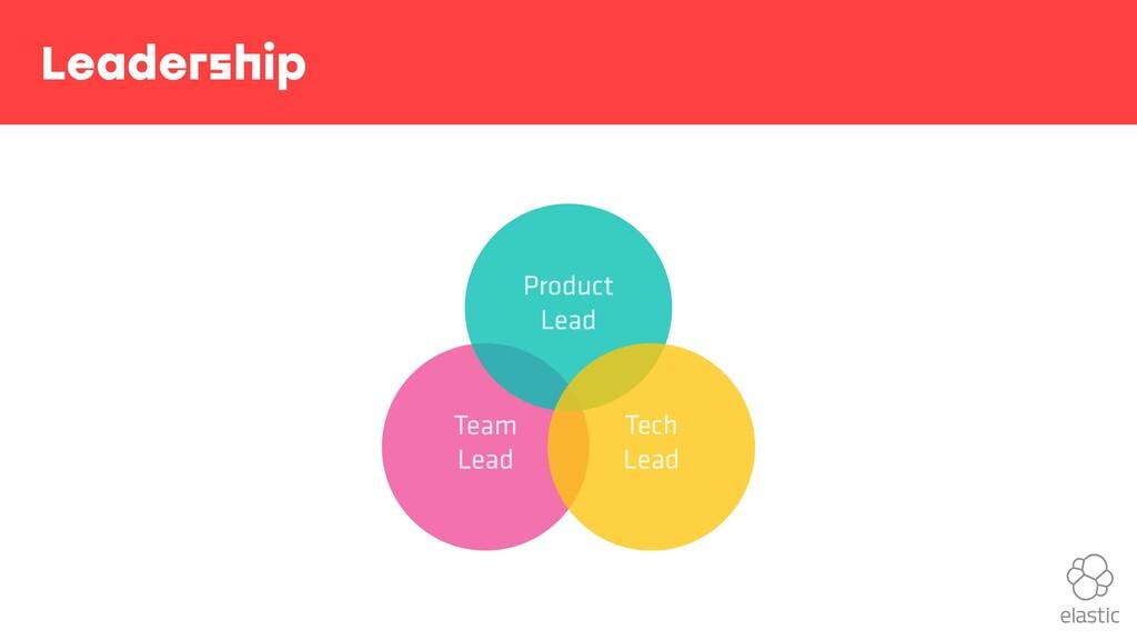 Leadership Team Lead Product Lead Tech Lead