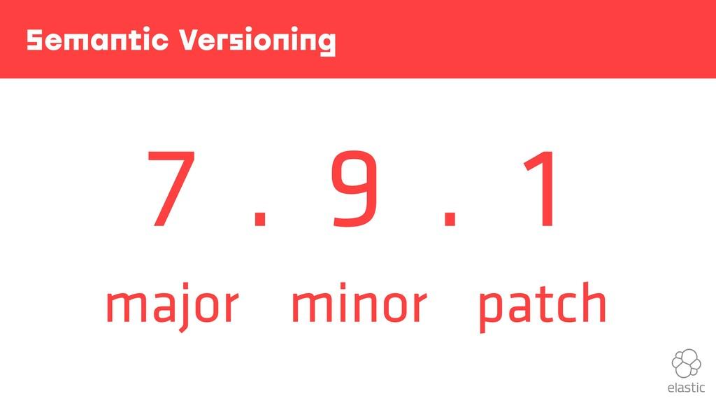 . . Semantic Versioning 7 9 1 major minor patch