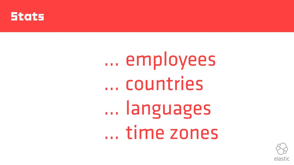 Stats … … … … employees countries languages tim...