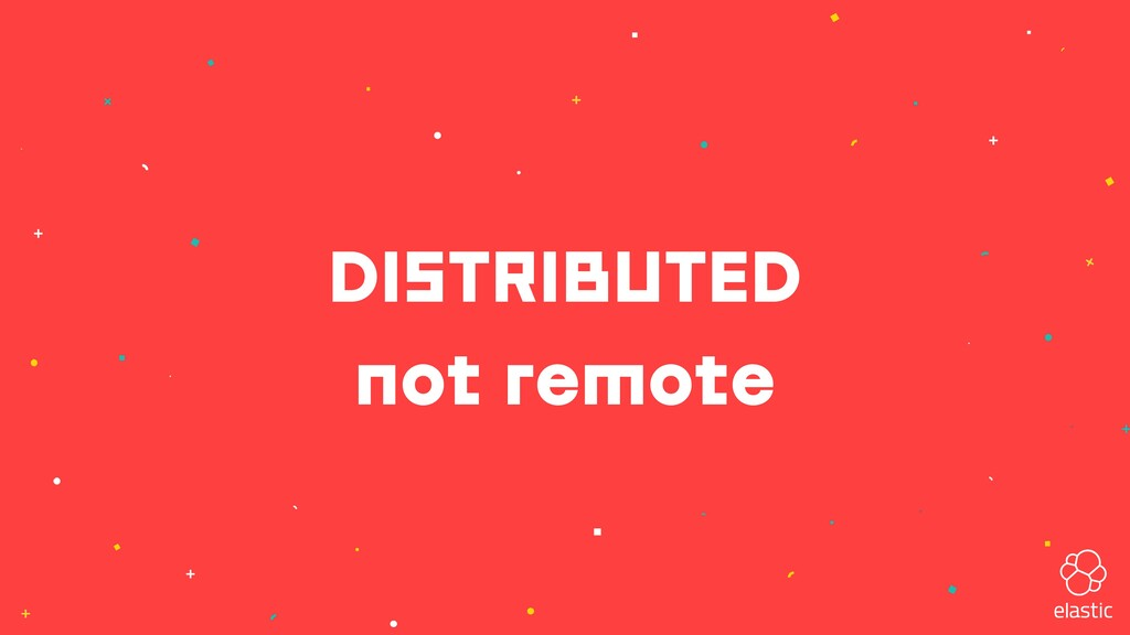 DISTRIBUTED not remote