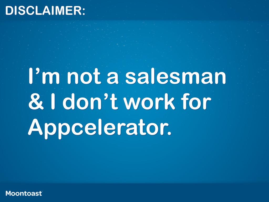 DISCLAIMER: I'm not a salesman & I don't work f...