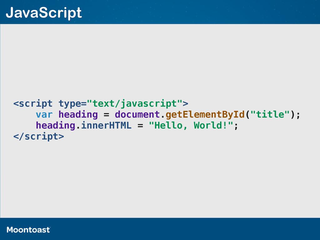 """<script type=""""text/javascript""""> var heading = d..."""