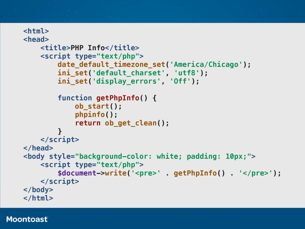 <html> <head> <title>PHP Info</title> <script t...