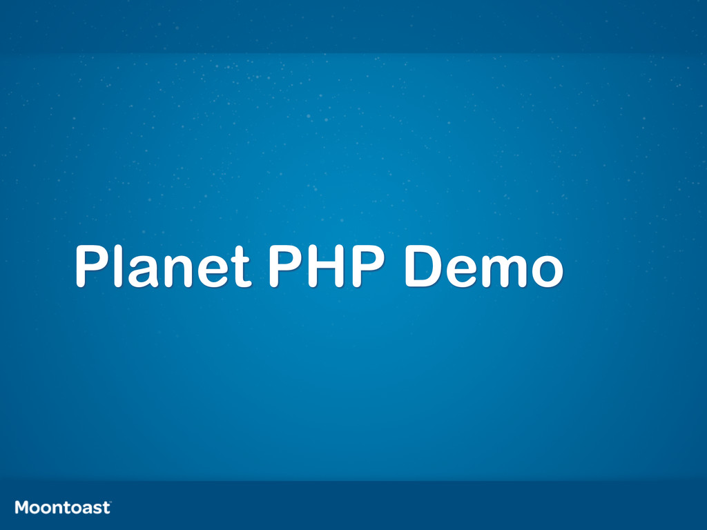 Planet PHP Demo